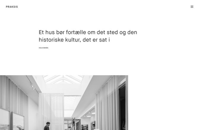 Screenshot of Praksis Arkitekter |