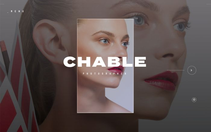 Screenshot of CHABLE | PHOTOGRAPHER