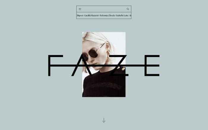 Screenshot of FAZE models Berlin - International Model & Influencer management