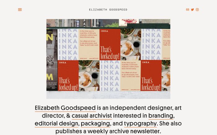 Screenshot of Elizabeth Goodspeed