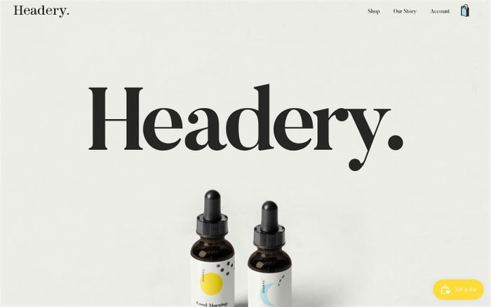 Screenshot of Buy CBD oil for anxiety and depression - Headery