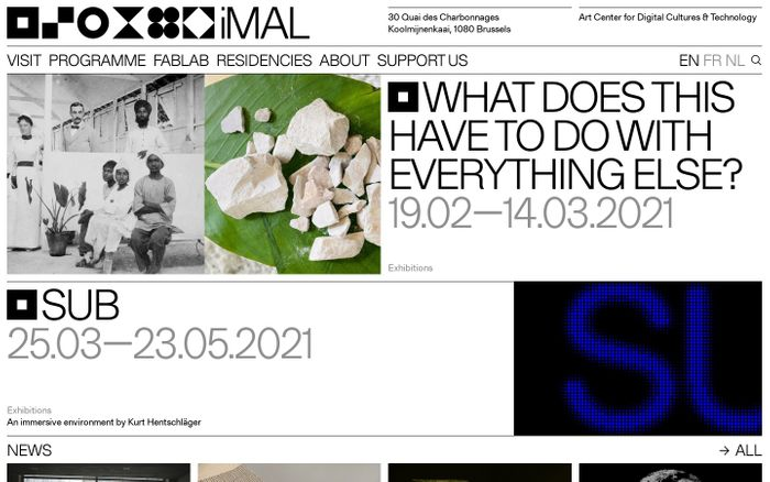 Screenshot of Imal website