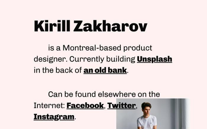 Screenshot of Kirill Zakharov | Designer & Developer