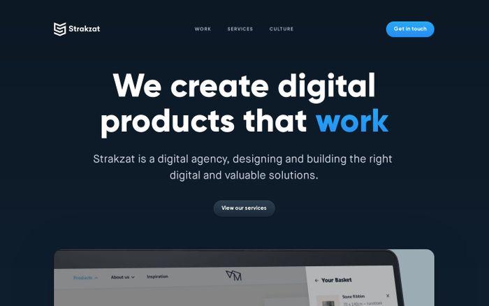 Screenshot of Strakzat website