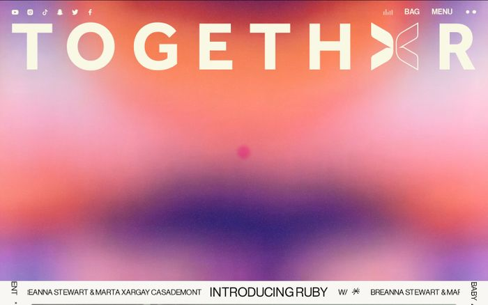 Screenshot of Togethxr website