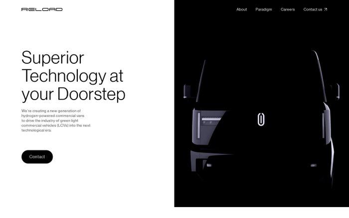 Screenshot of Reload Motors website