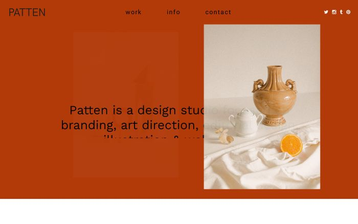 Screenshot of Studio Patten | Design