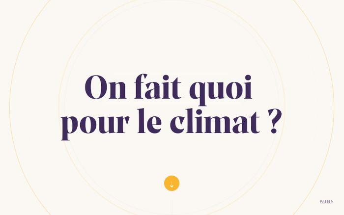 Screenshot of On fait quoi pour le climat ?