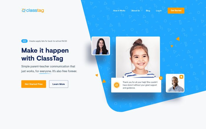 Screenshot of Complete Parent Teacher Communications Solution — ClassTag