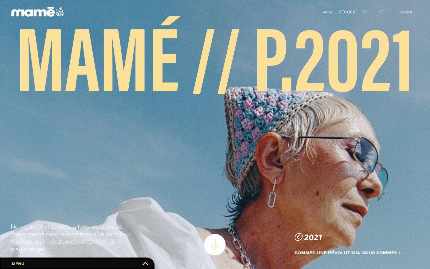 Screenshot of Mamé website