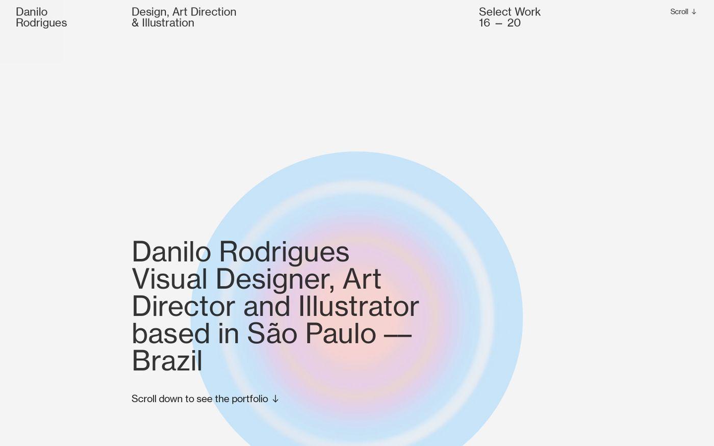 Screenshot of Danilo Rodrigues website