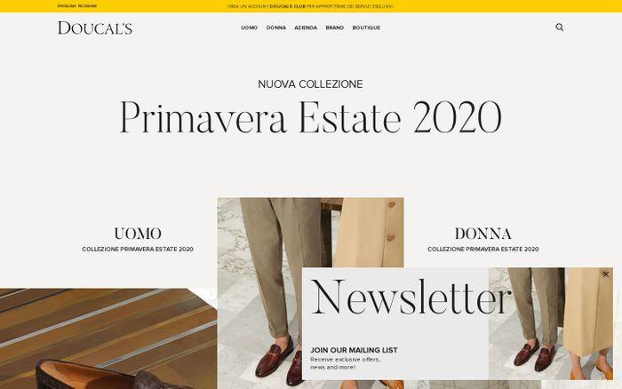 Screenshot of SCARPE ARTIGIANALI DI LUSSO UOMO E DONNA MADE IN ITALY | DOUCAL'S website