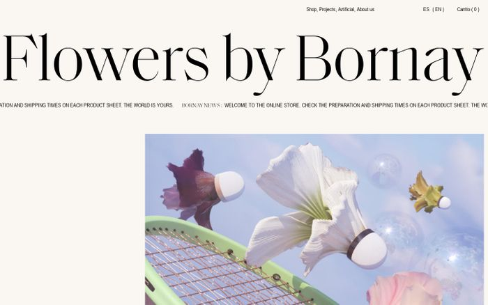 Screenshot of Flowers by Bornay