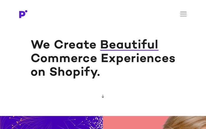 Screenshot of We Create Beautiful Commerce Experiences on Shopify – Pointer Creative