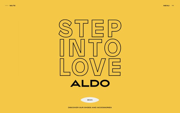 Screenshot of Step Into Love | ALDO UK
