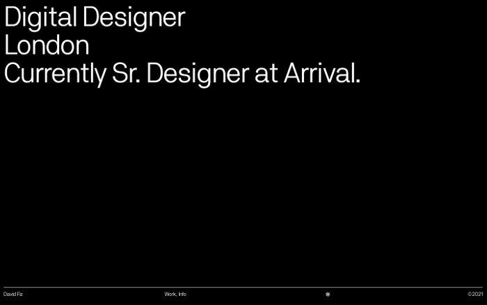 Screenshot of David Fiz website