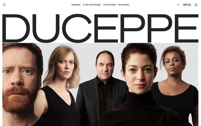 Screenshot of Théâtre Duceppe website