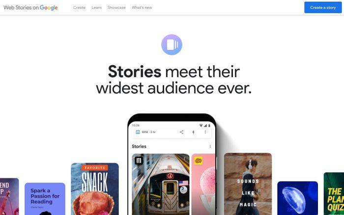 Screenshot of Web Stories on Google
