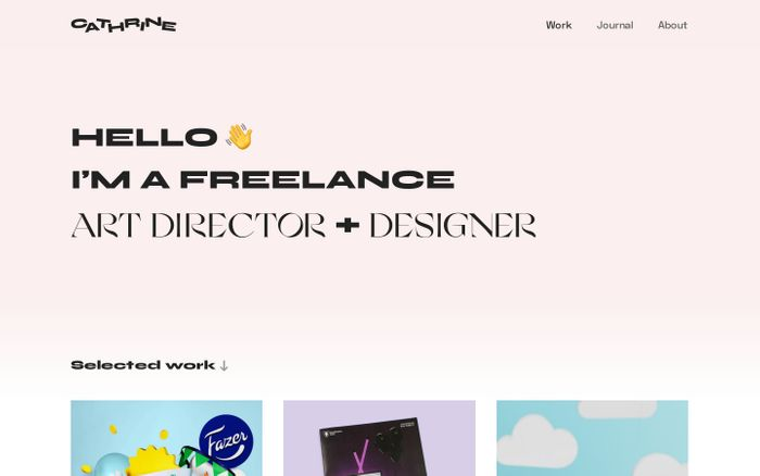 Screenshot of Cathrine Understrup – Freelance Art Director & Designer