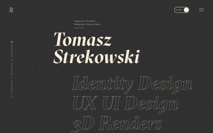 Screenshot of Tomasz Strekowski Portfolio