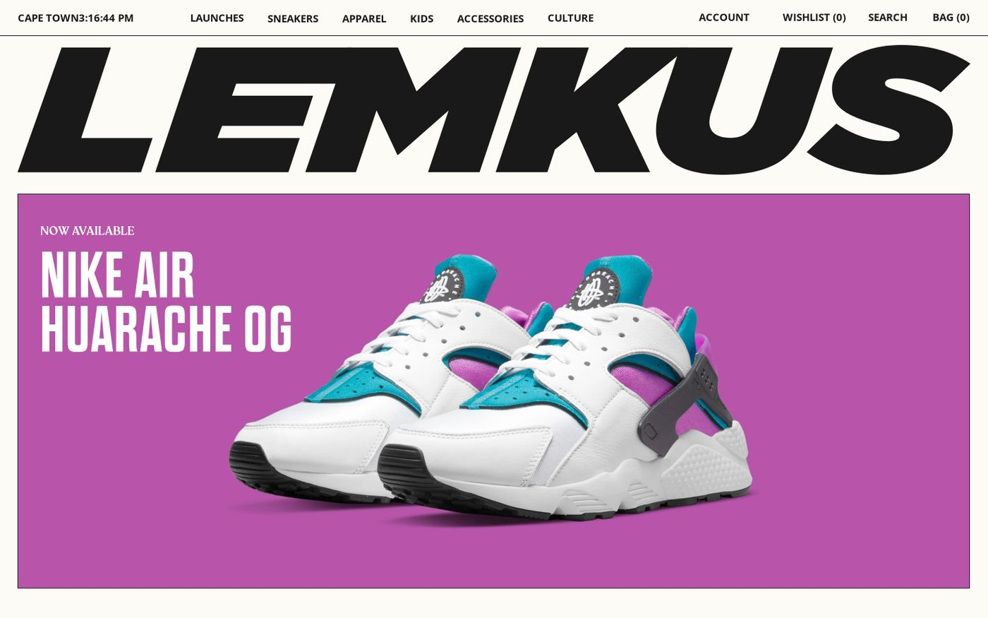 Screenshot of Lemkus website