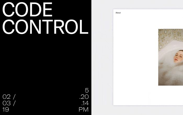 Screenshot of CODE CONTROL