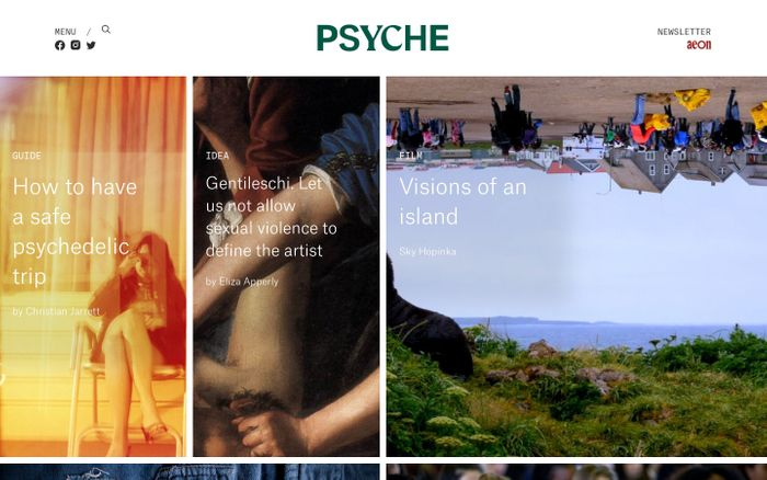 Screenshot of Psyche website