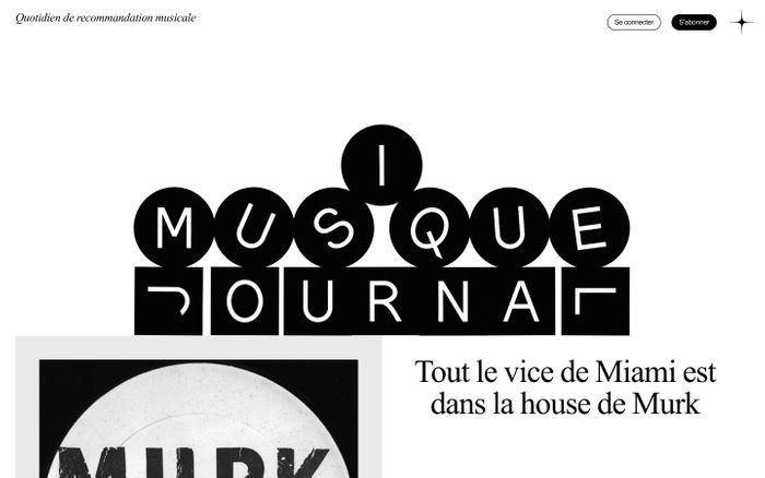 Screenshot of Musique Journal website