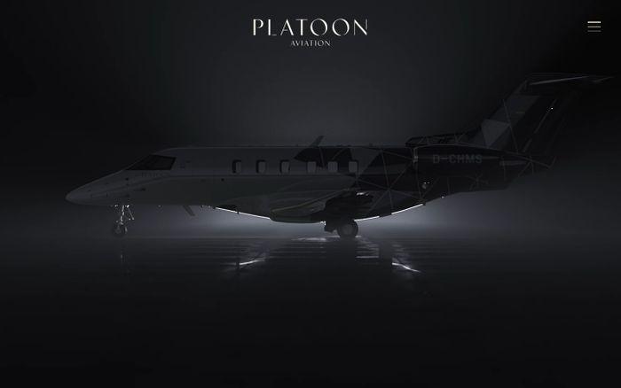 Screenshot of Platoon Aviation website