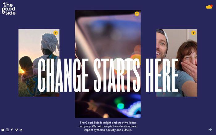 Screenshot of The Good Side website
