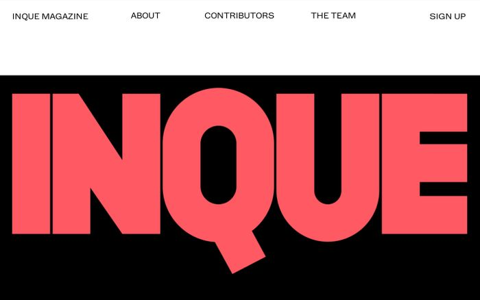 Screenshot of INQUE MAGAZINE
