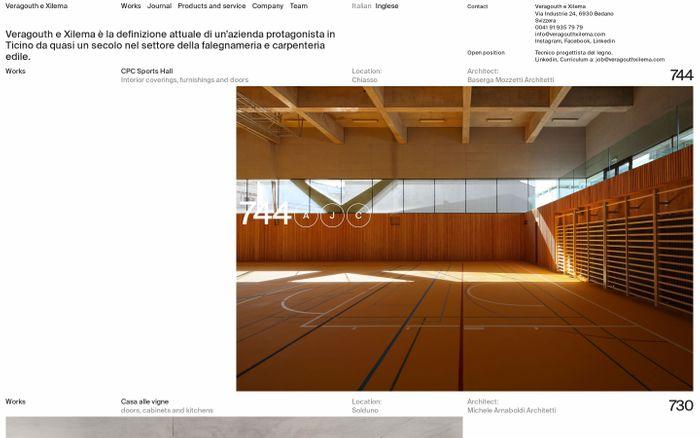 Screenshot of Veragouth e Xilema website