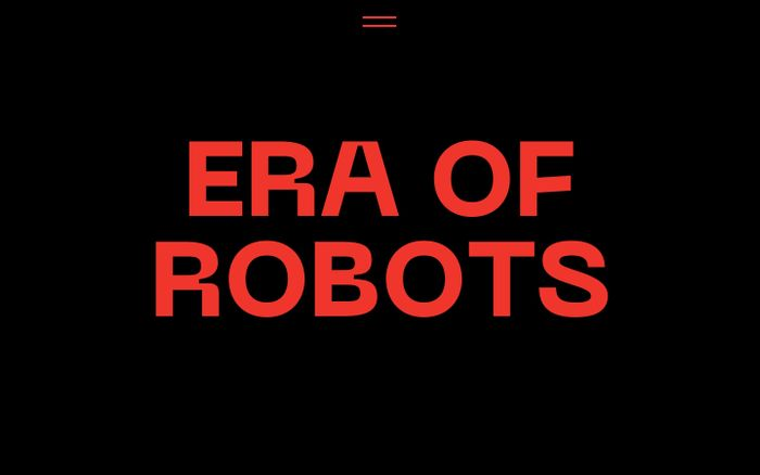 Screenshot of Era of Robots website