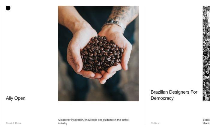 Screenshot of Diogo Akio website