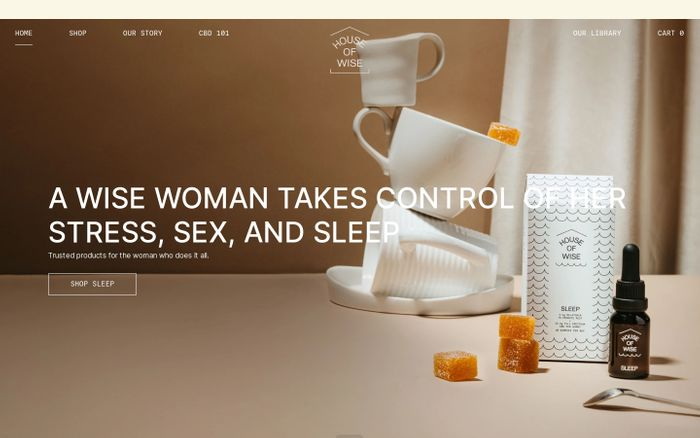 Screenshot of House of Wise Co. website