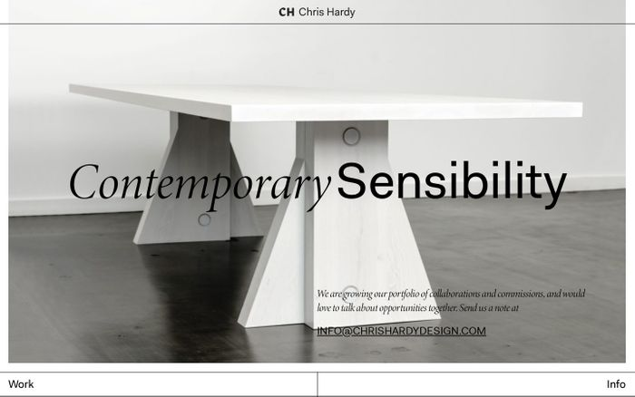 Screenshot of Chris Hard website