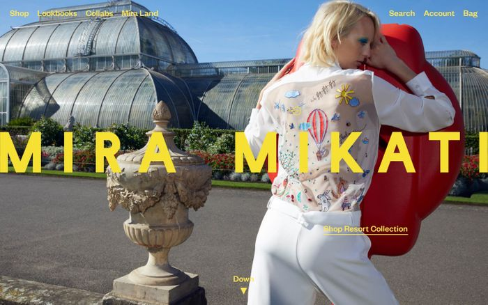 Screenshot of Mira Mikati | Official Website | miramikati.com