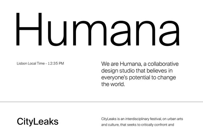 Screenshot of Humana - Collaborative Design Studio