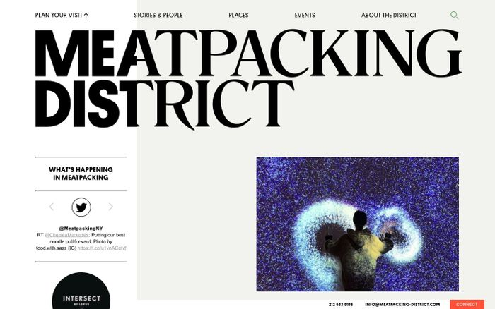 Screenshot of Meatpacking District Official Website -