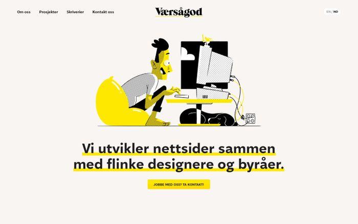 Screenshot of Vi lager nettsider – enkelt og greit! | Værsågod