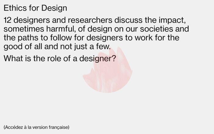 Screenshot of Ethics for Design