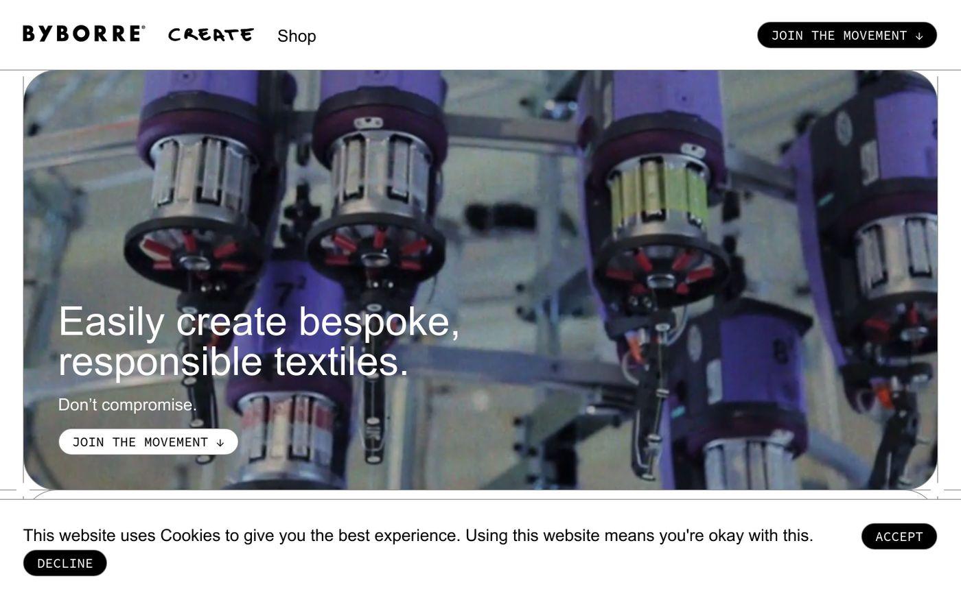Screenshot of Byborre website