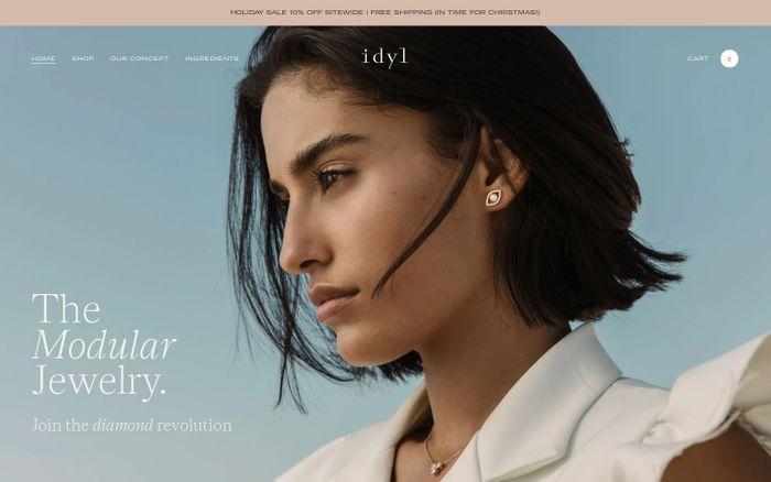 Screenshot of Idyl website