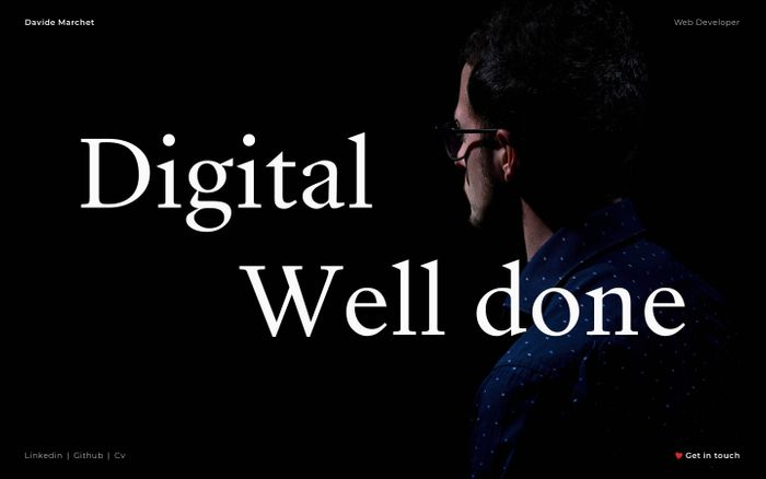 Screenshot of Davide Marchet web designer and developer