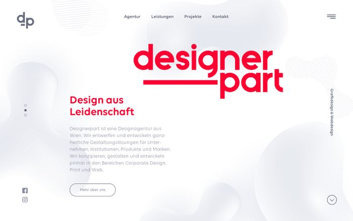 Screenshot of Designerpart Designagentur - Grafikdesign & Webdesign