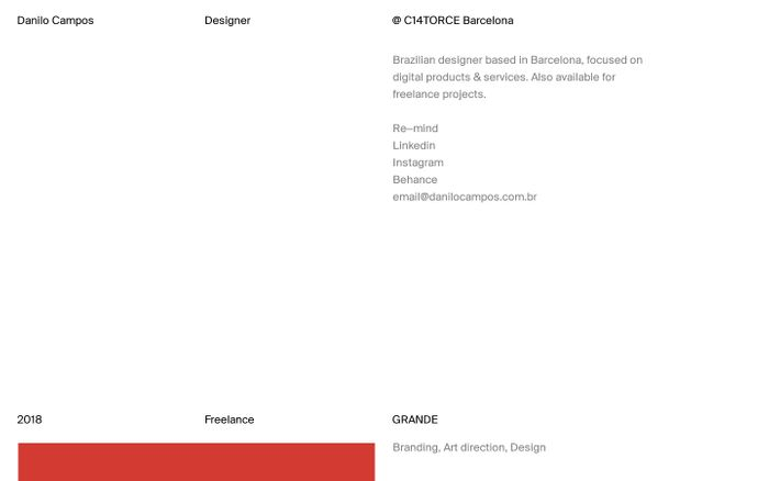 Screenshot of Danilo Campos — Designer & Art Director