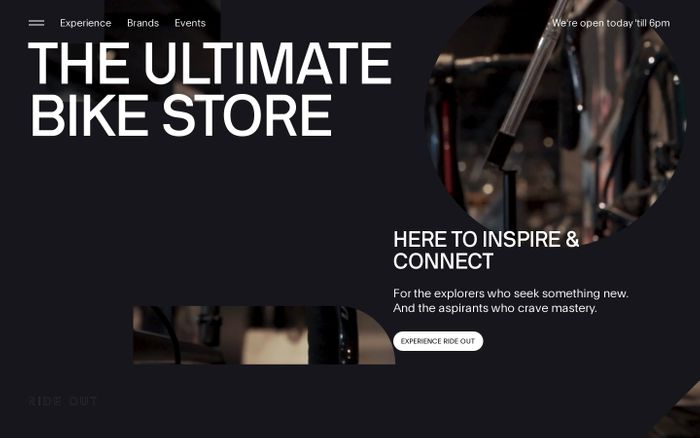 Screenshot of The ultimate bike store - RideOut