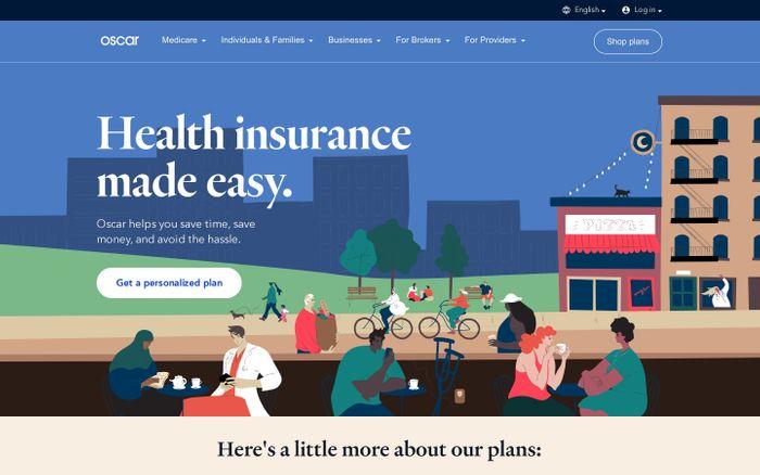 Screenshot of Oscar | Health insurance made easy