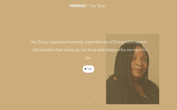 Screenshot of Humanly Our Story website