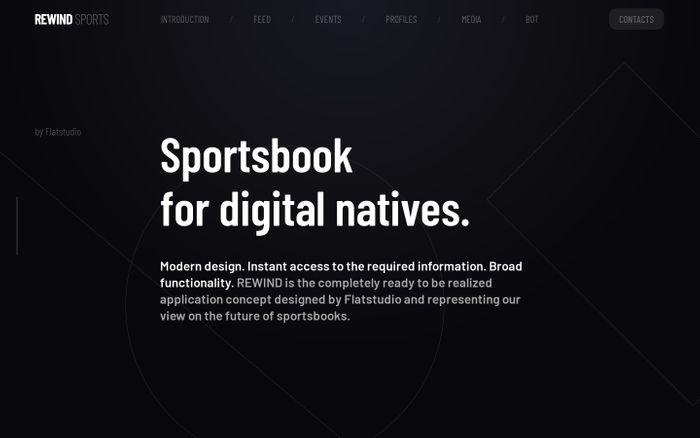 Screenshot of Rewind – sportsbook app design